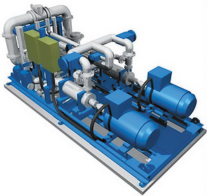 Рис. 3. Модуль подпиточных насосов установки BioPower 5
