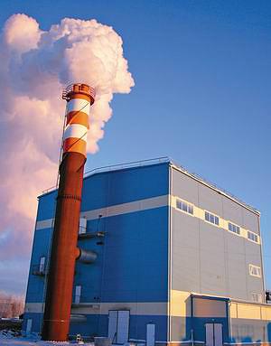 Рис. 4. Котельная установка BioEnergy 2x17 + 9 (г. Онега, Россия)