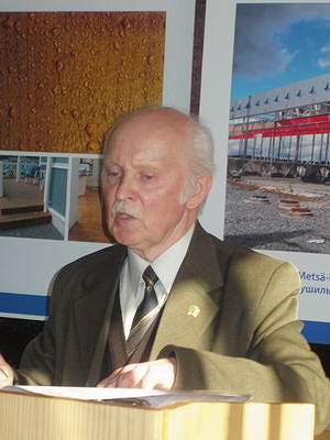 Выступление к. т. н., доцента С. И. Акишекова было посвящено состоянию техники и технологии камеры сушки пиломатериаов
