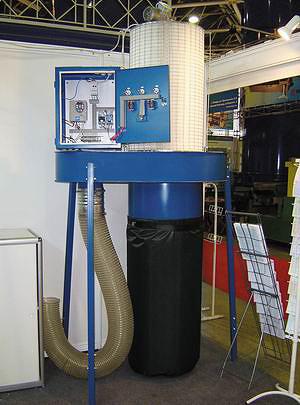 Пылеулавливающий агрегат с фильтровальной кассетой и частотным регулятором