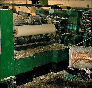 Станок по производству лущеного шпона