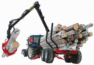Лесовозный прицеп FARMI Forest Profdive 12 с гидроманипулятором
