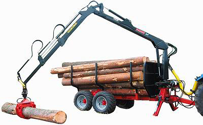 Лесовозный прицеп FARMI Forest Vario 121 с гидроманипулятором