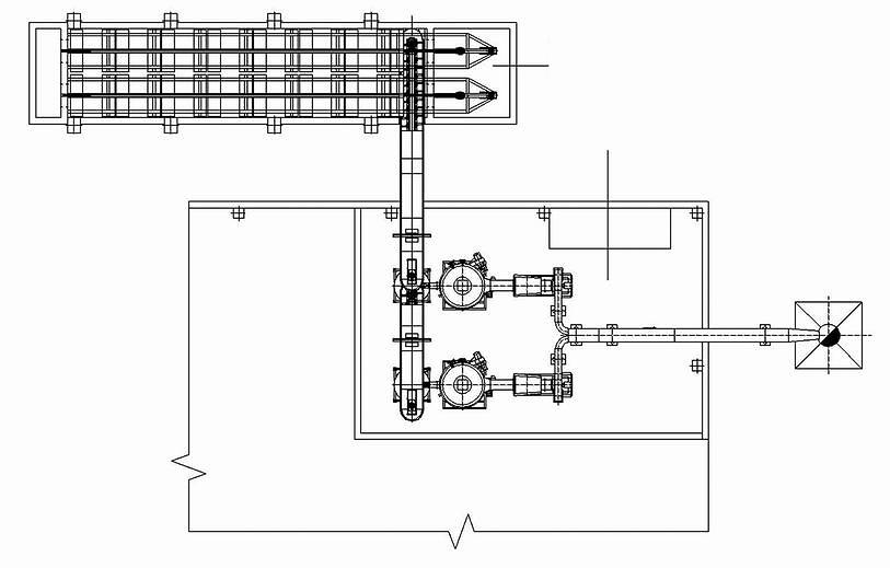 Рис. 1. Компоновка автономной отопительной котельной с механизированным складом топлива