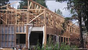 Деревянная конструкция, подлежащая огнезащитной обработке
