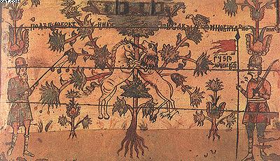 Легендарное «древо жизни» и вооруженная «стража» сундука. Северная Двина. Район Борка. 1688 год
