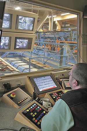 Рабочее место оператора линии обрезки Soderhamn Eriksson