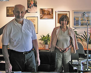 Павел Лединек и его жена в своем кабинете