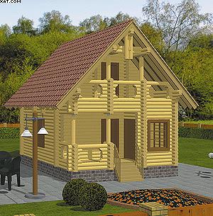 Пример фореалистической визуализации модели дома, комплекс «К3-Коттедж»