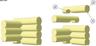 Рис. 1. Фрагмент сруба