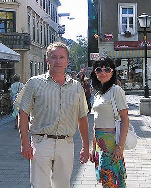 Тоне Роскар и наша переводчица Валентина Козырь