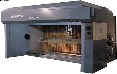 Фото 1. Установка для автоматического нанесения отделочных материалов на обе пласти и продольные кромки дверного полотна мод. AD-48