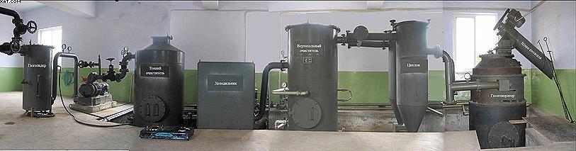 Рис. 11. Газогенераторная установка мощностью 300 кВт, работающая на сельскохозяйственных растительных отходах влажностью до 40%