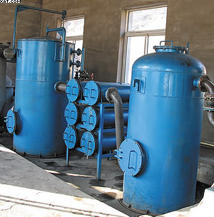 Рис. 9. Газогенераторная установка мощностью 200 кВт, работающая на сельско-хозяйственных растительных отходах влажностью до 30%