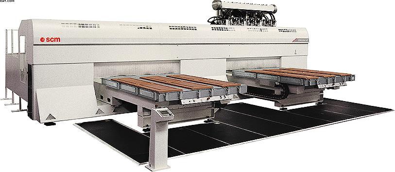 Обрабатывающий центр с несколькими фрезерными агрегатами и двумя подвижными рабочими столами