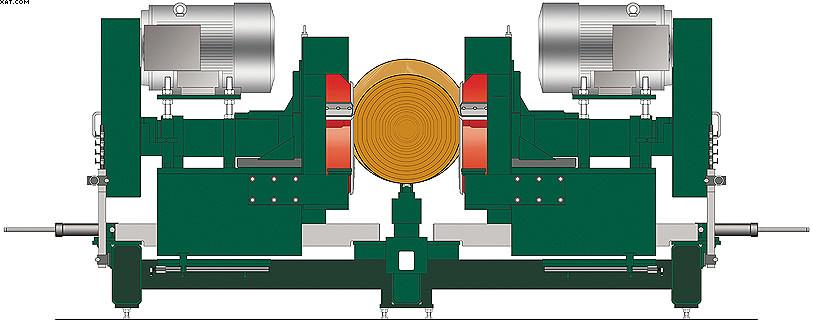 Рис. 2. Фрезерно-брусующее оборудование