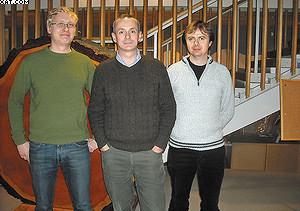 Актив кафедры: профессор Марк Хьюдж (в центре) и его помощники