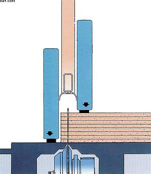 Рис. 5. Сечение прижимной балки, составленной из двух независимых частей