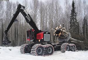 2 этап. Вывоз леса на верхний склад с помощью высокопроизводительных скиддеров TimberPro грузоподъемностью до 20 т.