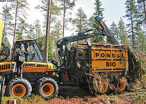 Ponsse Bio - форвардер для сбора биомассы