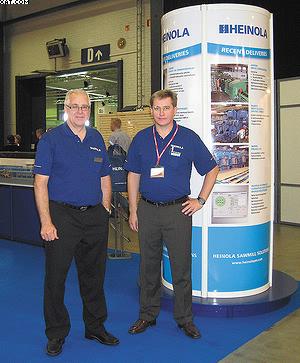 Кари Киискинен (слева) с коллегой, компания HEINOLA