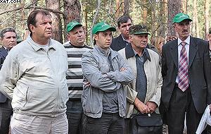 Михаил Ключников на выездном семинаре по рубке