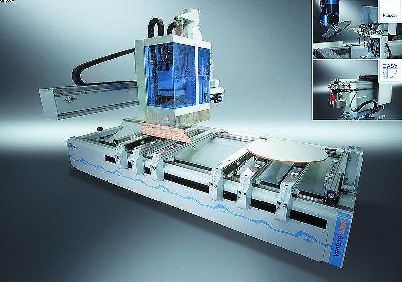 Обрабатывающий центр HOMAG Venture 20M с функцией 5-осевой обработки и кромкооблицовочным агрегатом easyEdge
