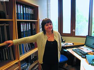 Сари Карвинен, сотрудница Научно-исследовательского института леса Финляндии