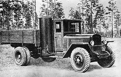 Урал ЗИС-21А с газогенераторной установкой (1946–1952)