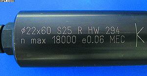 Маркировка инструмента согласно EN 847; на обороте указан производитель