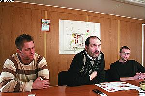 Слева направо: Степан Захаров, Кристоф Шмидт, Герольд Тиммерер-Майер