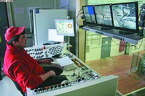 Рабочее место оператора лесопильной линии