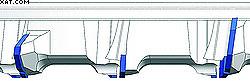 Рис. 3. Зубья с осевым углом улучшают отвод   стружки