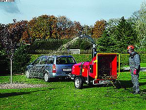 Измельчитель древесных отходов Lindana TP 160 Mobil (мобильная рубилка)