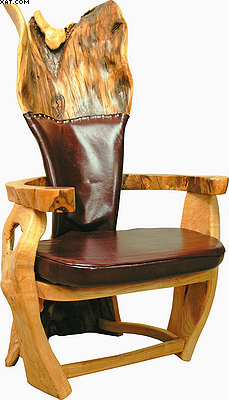 Кресло «Лесная плавность» изготовлено из дуба