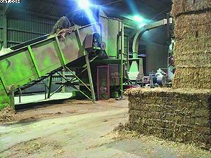 Рис. 2. Вид котельной установки с котлом для сжигания гранул, изготовленных из отходов растениеводства