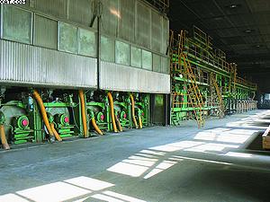 Картоноделательная машина (КДМ №5) в цехе ЗАО «Пролетарий»