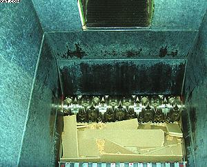 Фото 3. Дно камеры измельчения шредера