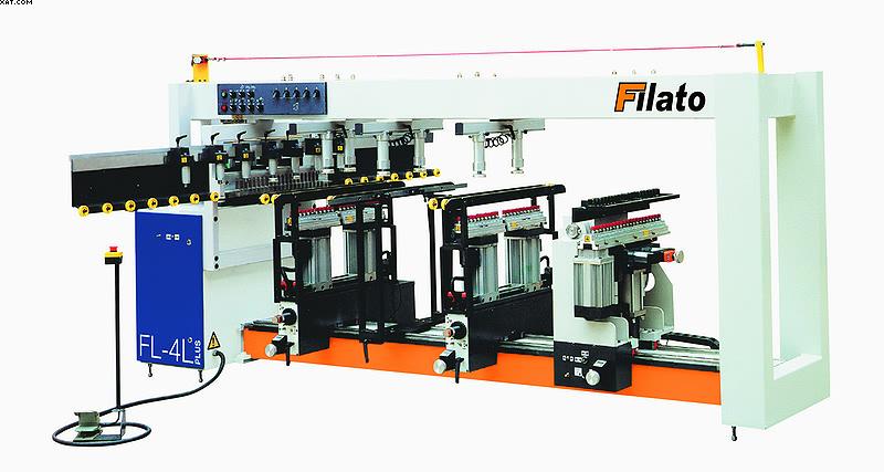 Сверлильно-присадочный станок проходного типа Filato FL-4L