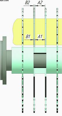 Рис. 3. Схема расчета ширины дистанционной втулки