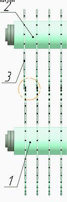 Рис. 6. Дефект «ступенька» в двухвальном пильном блоке