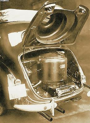 Рис. 3. Компоновка газогенераторной установки на автомобиле «Вандерер-W23» (1939 год)