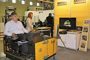 Симулятор для обучения операторов харвестеров на стенде Ponsse