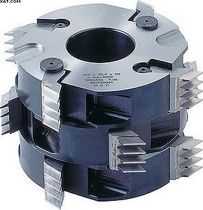 Система из шипорезной ножевой мини-головки, сконструированная из отдельных дисковых ножей