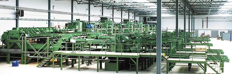 Установка фрезерно-брусующей линии SAB на заводе компании Stelmet