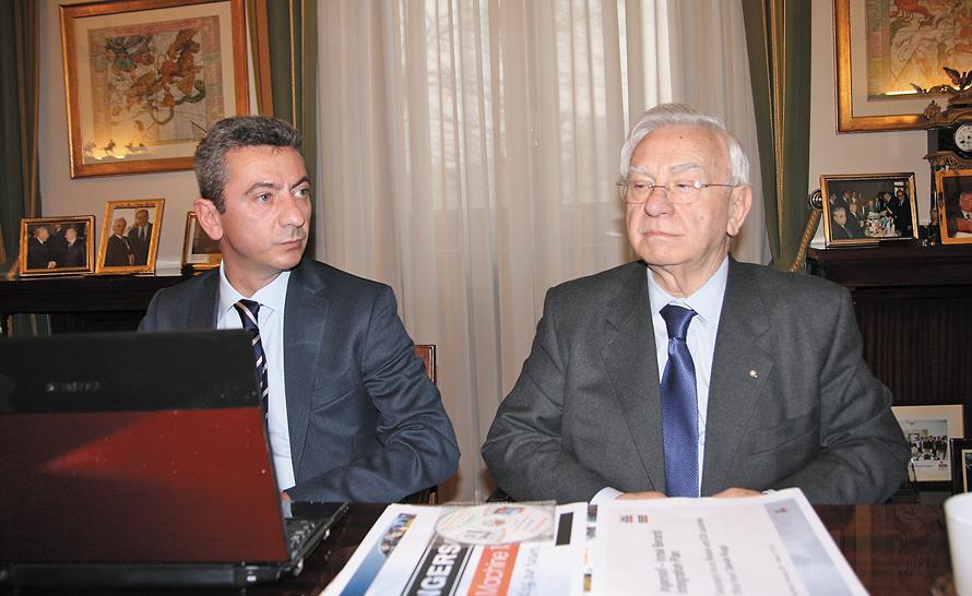 Президент холдинга г-н Аттилио Камоцци и генеральный директор Camozzi SpA г-н Марко Камоцци