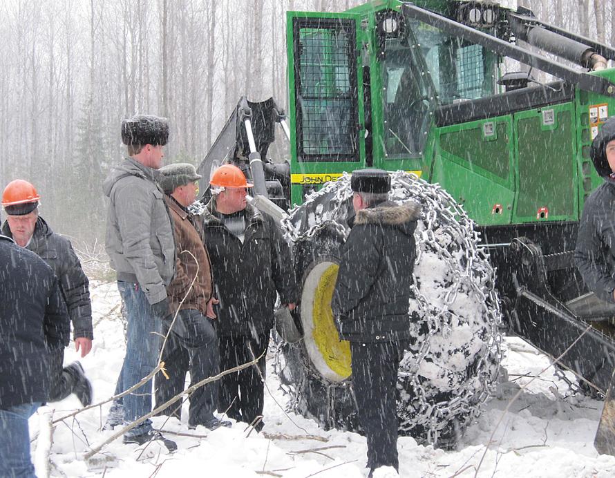 Демонстрация лесозаготовительной техники John Deere
