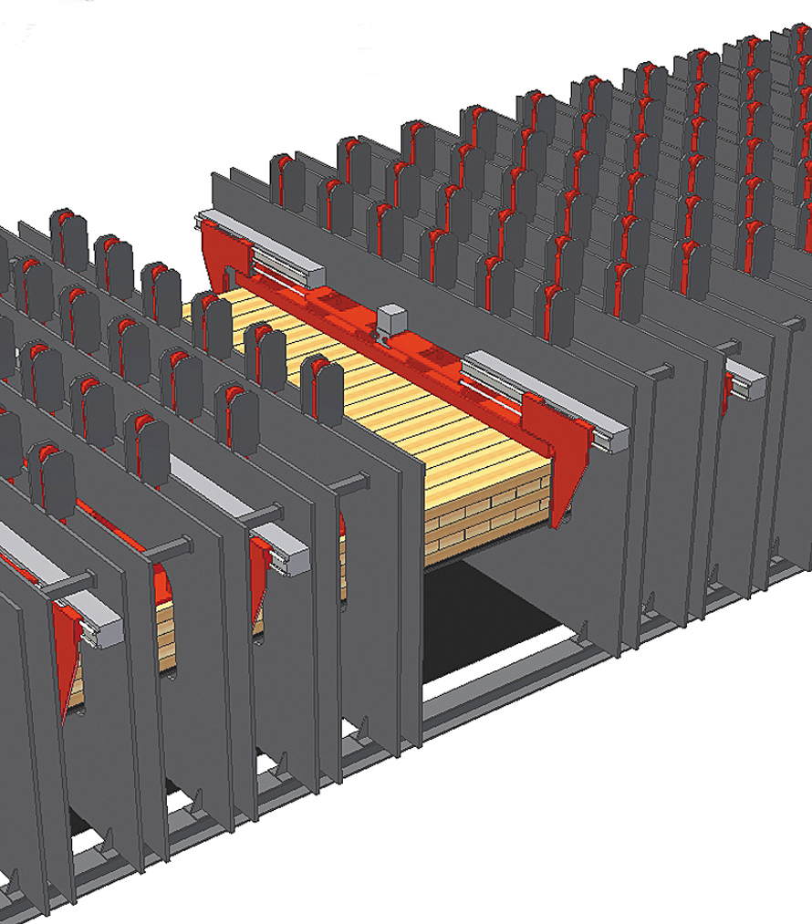 Рис. 3. Гидравлический выравниватель для бокового уплотнения продольных и поперечных слоев