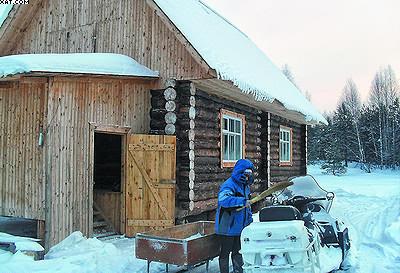 Охотничий домик, построенный на средства проекта