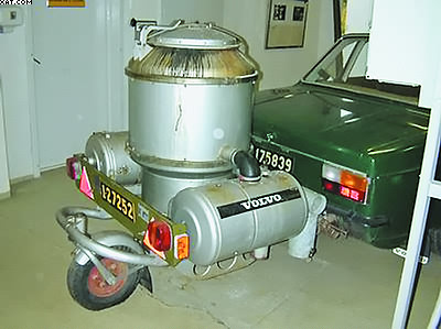 Рис. 8. Прицепная газогенераторная установка Volvo (модель F-300), 1980 год